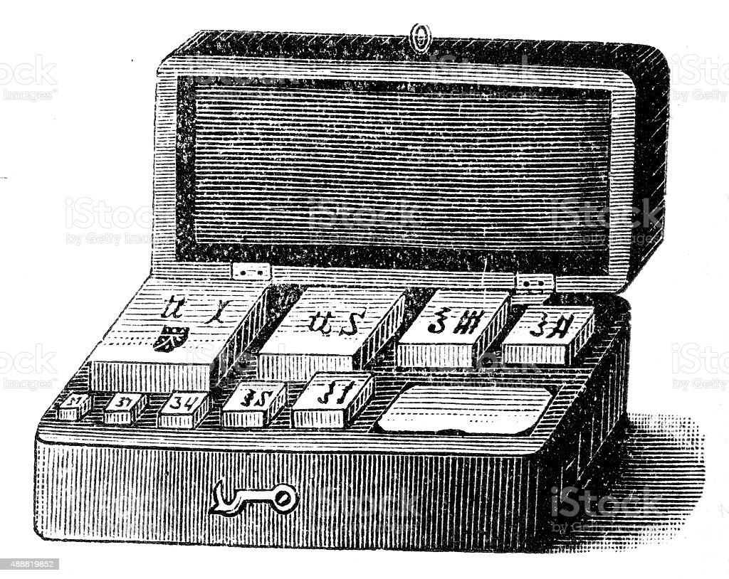 Weight engraving vector art illustration