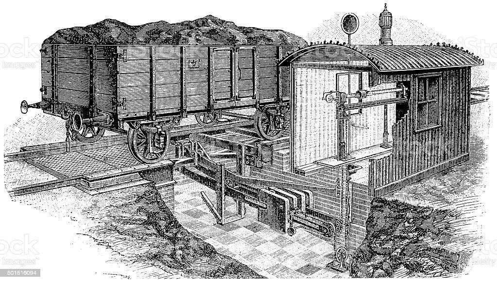 Weighting train vector art illustration