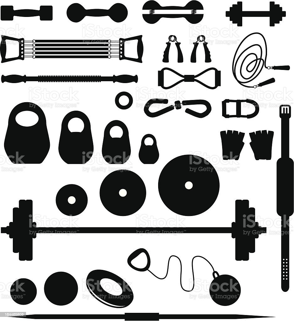 Weightlifting equipment royalty-free stock vector art
