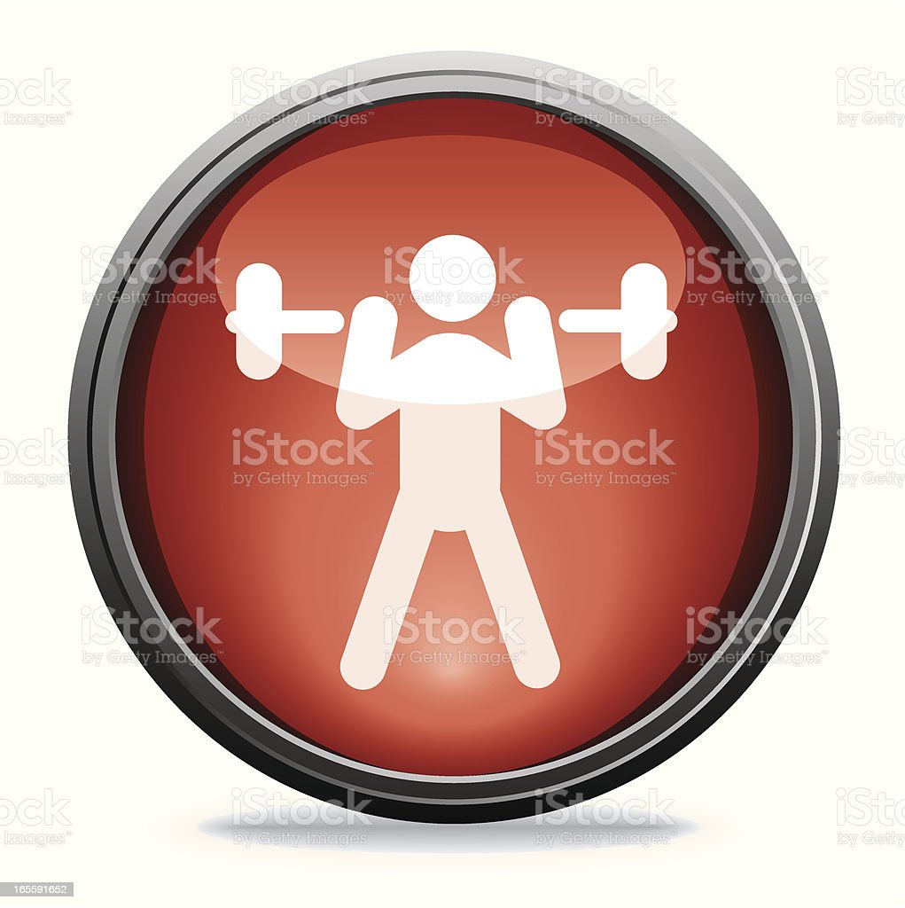 Weightlifting | Glass Collection royalty-free stock vector art