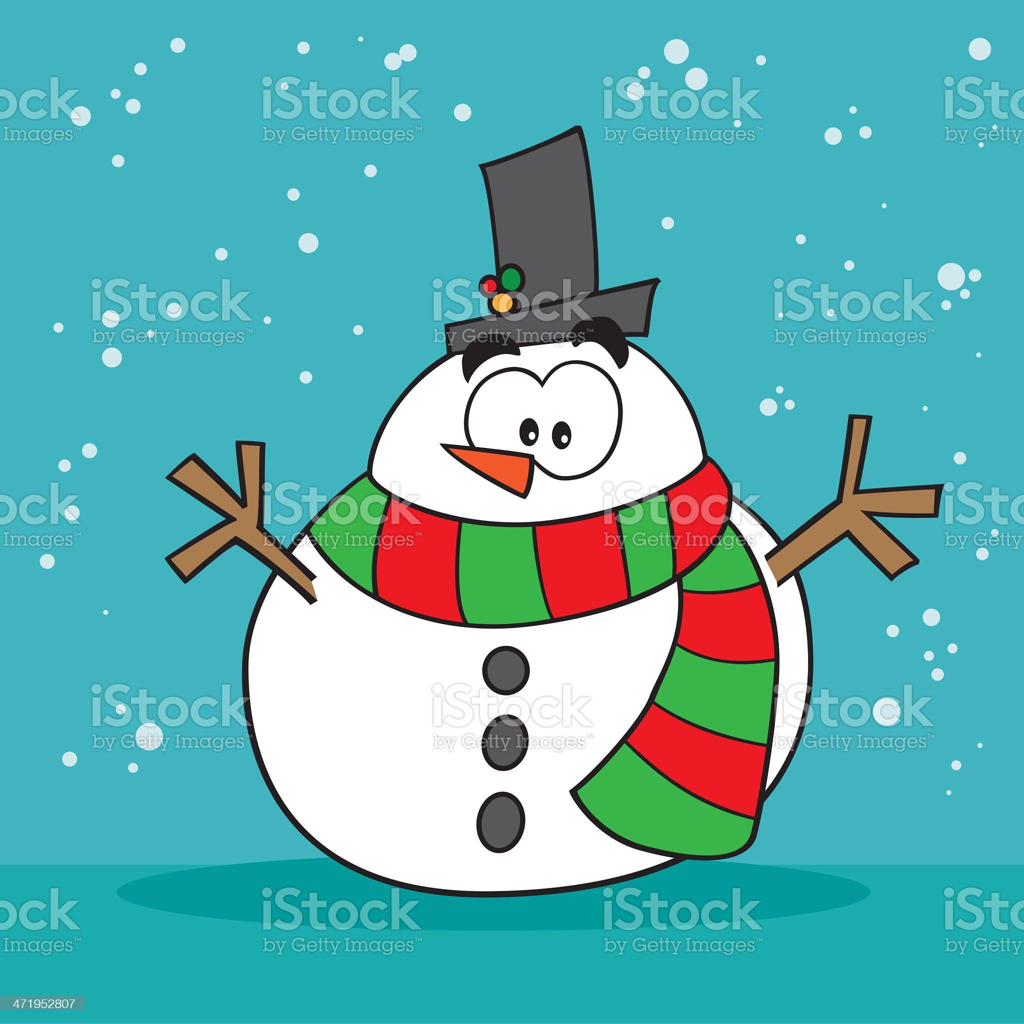 Weird snowman royalty-free stock vector art