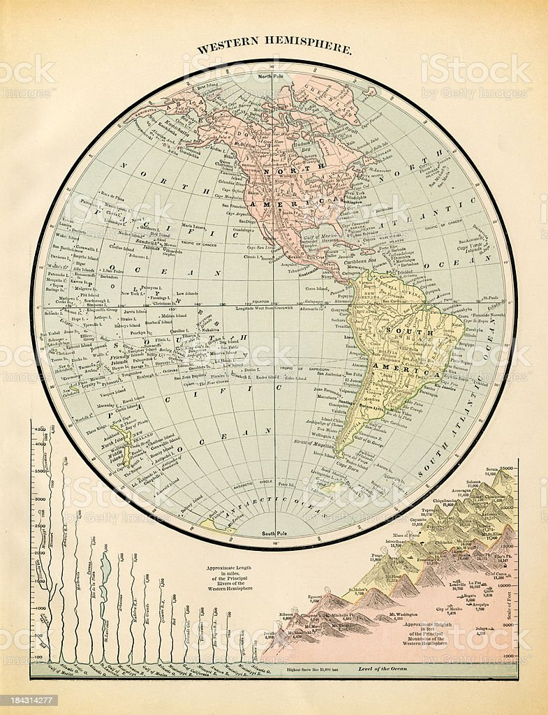 western hemisphere royalty-free stock vector art