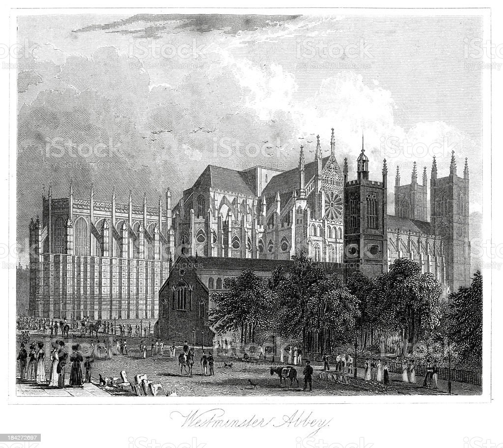 Westminster Abbey royalty-free stock vector art