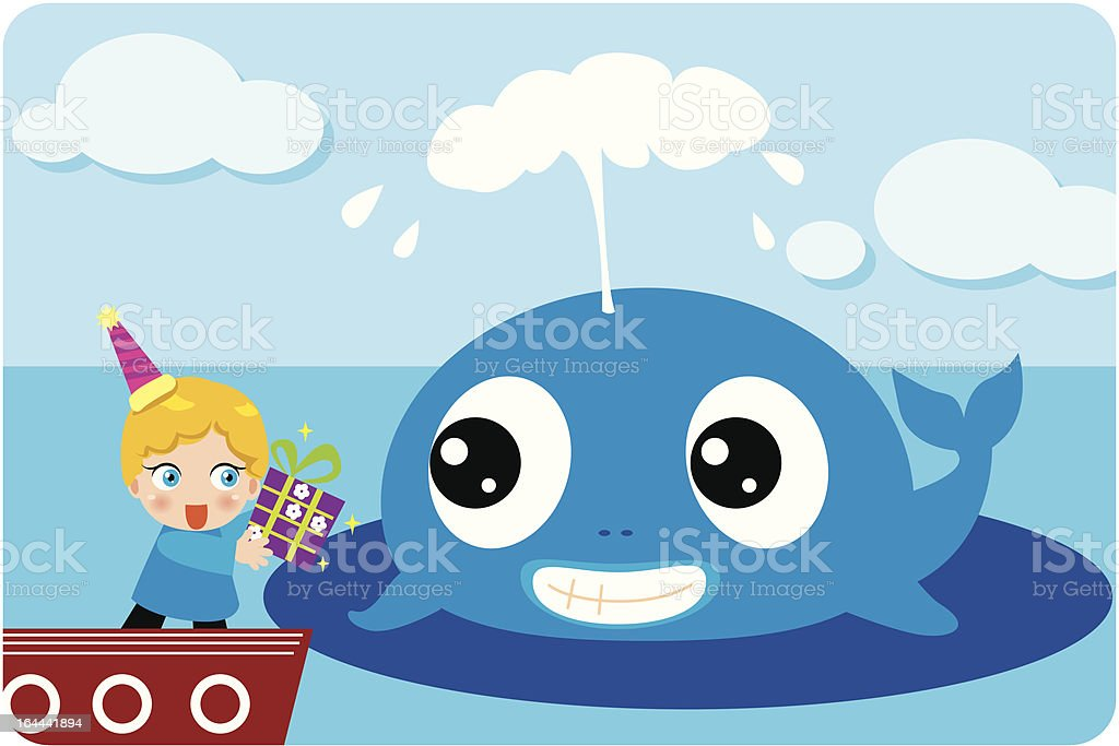 Whale gift royalty-free stock vector art