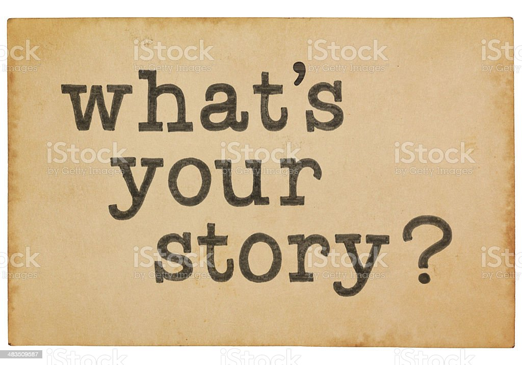 what is your story question on vintage old paper vector art illustration