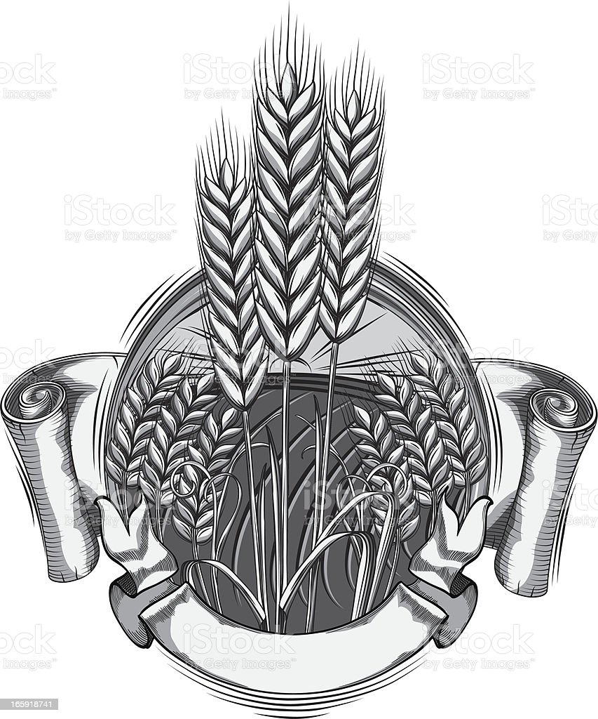 Wheat emblem royalty-free stock vector art