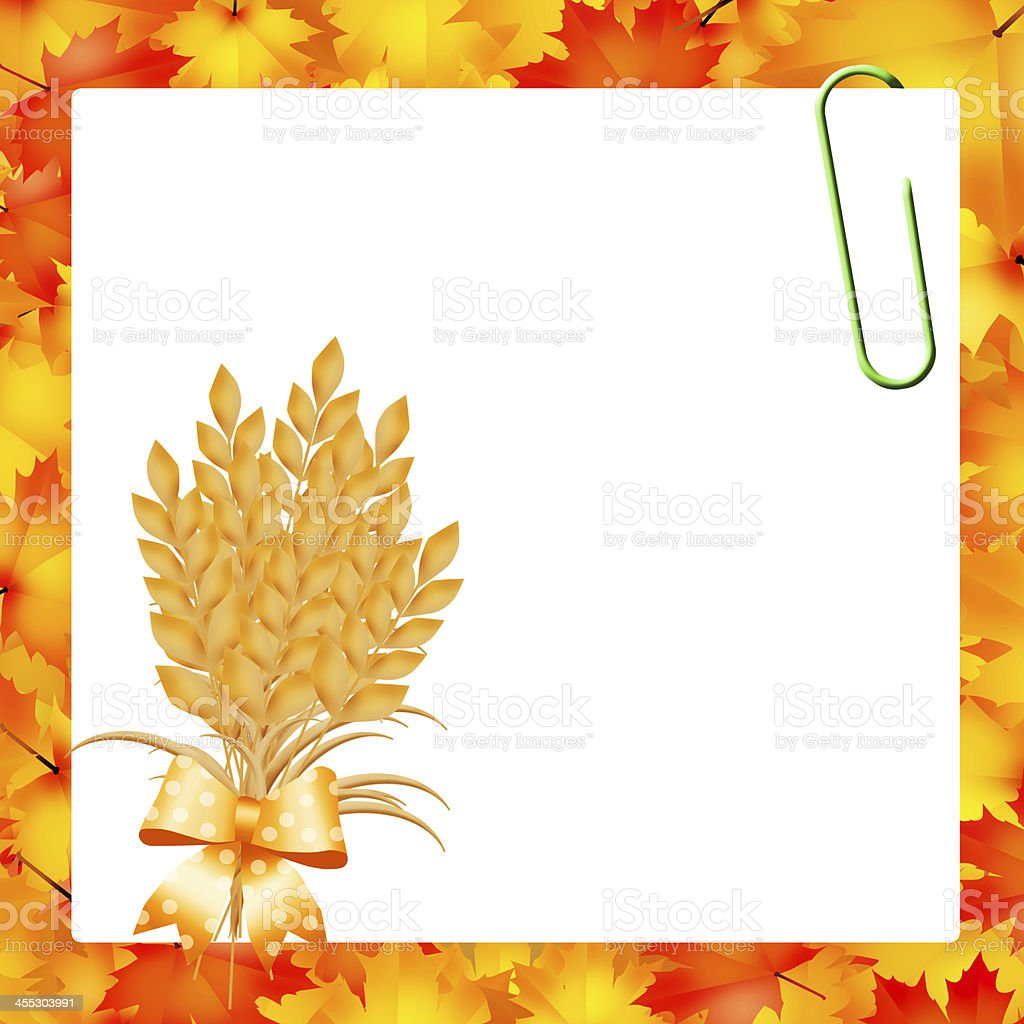 Wheat for Thanksgiving royalty-free stock vector art