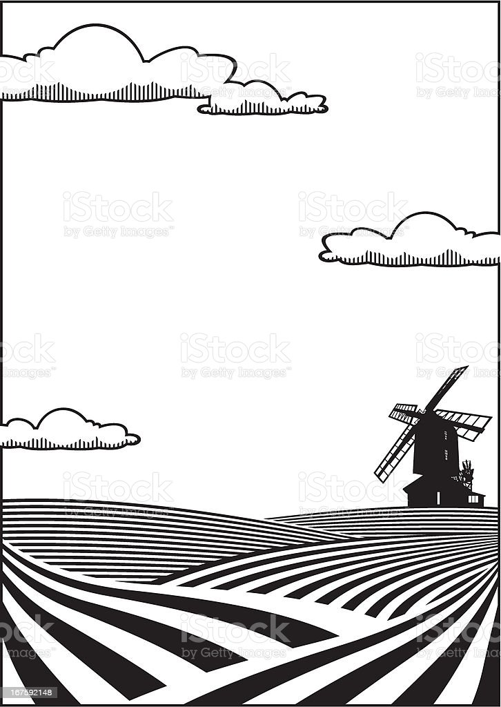 Wheatfield background royalty-free stock vector art