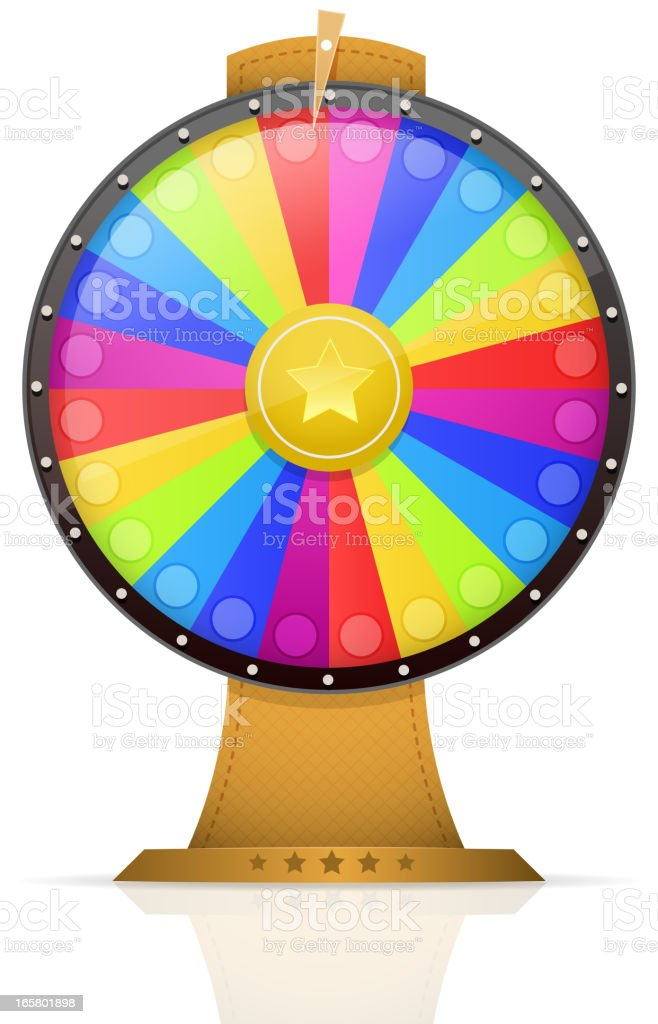 Wheel Of Fortune vector art illustration