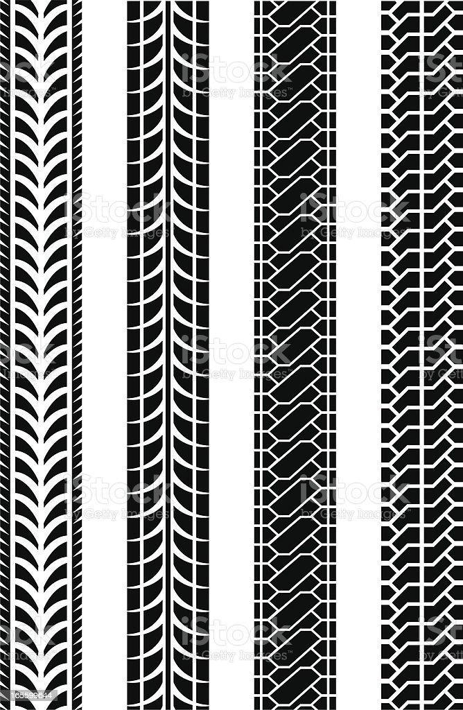 wheel treads royalty-free stock vector art