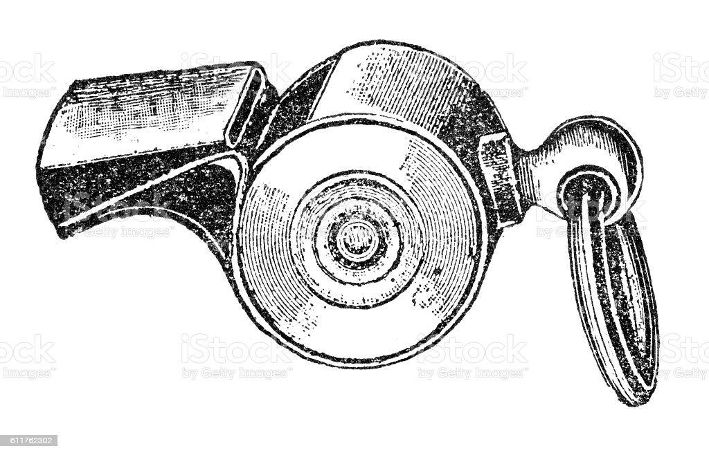 whistle vector art illustration