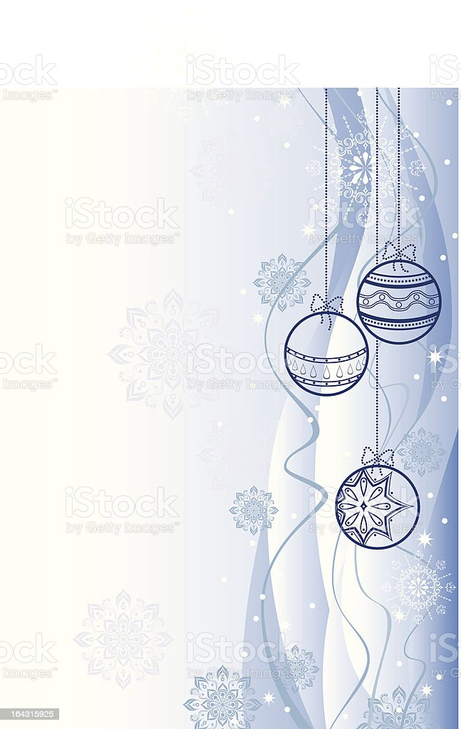 White and Blue Christmas Background royalty-free stock vector art