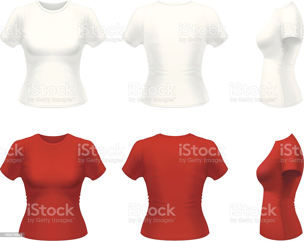 White and red t-shirts royalty-free stock vector art