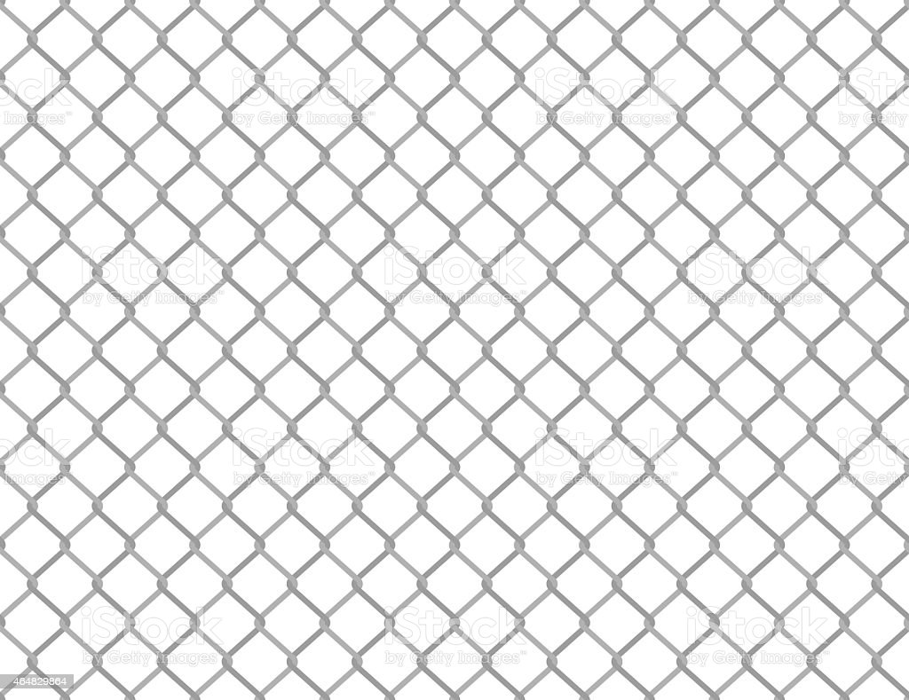 White background with a gray wired fence pattern against it vector art illustration