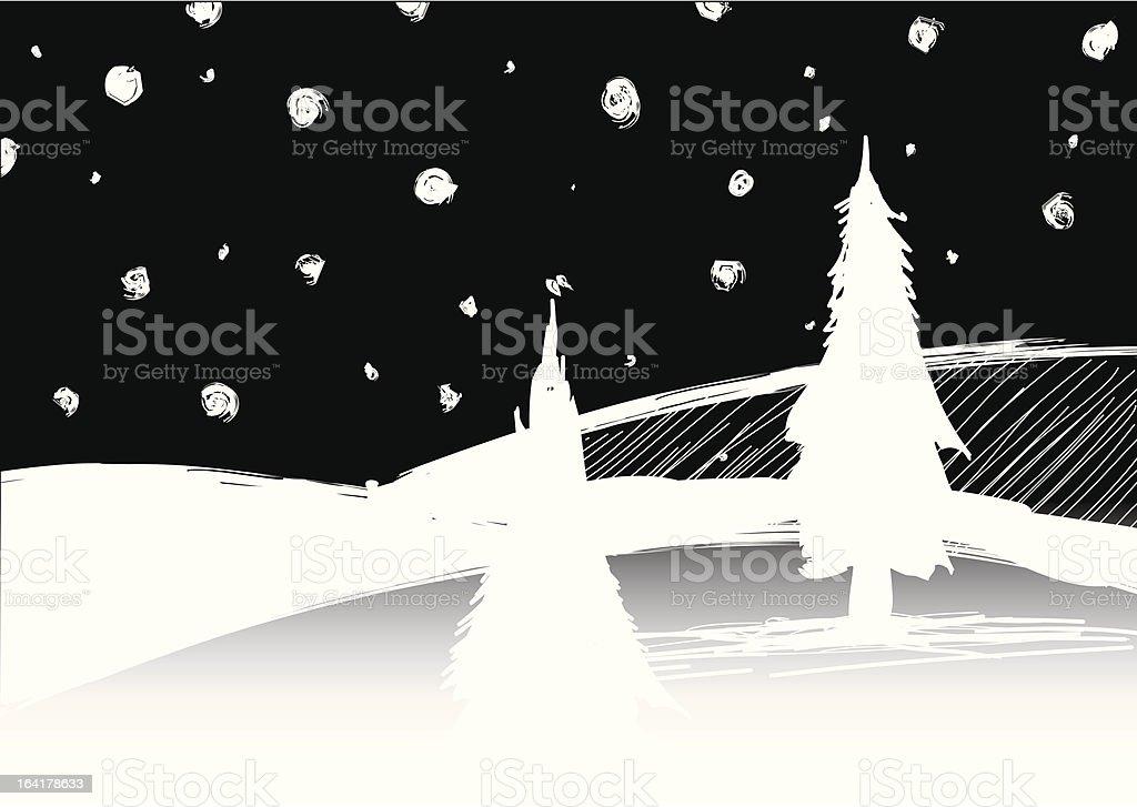 White Christmas royalty-free stock vector art