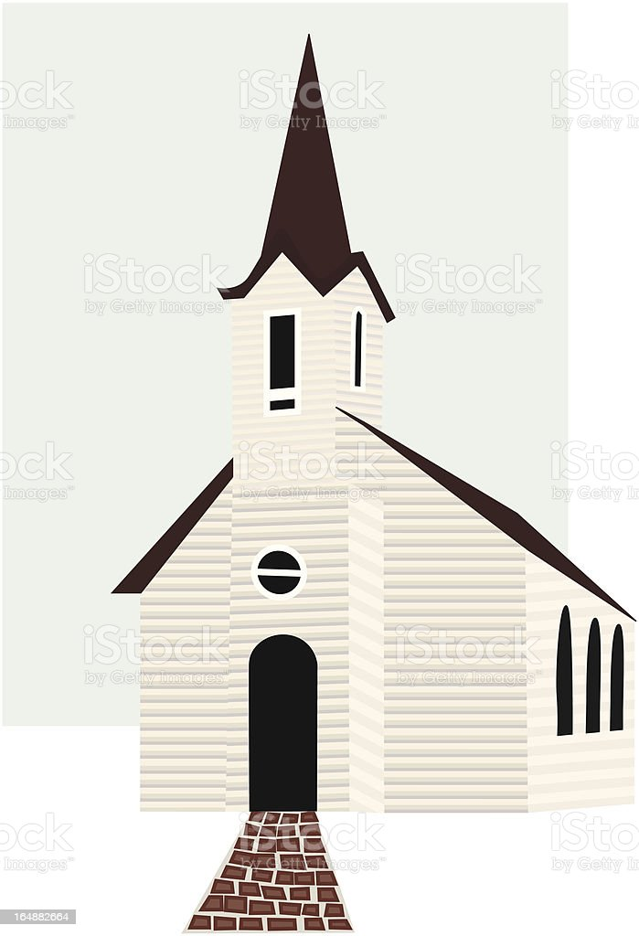 White Church royalty-free stock vector art