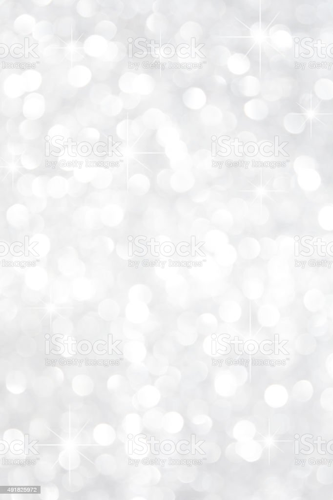 White Crystal Glitter Background With Stars vector art illustration