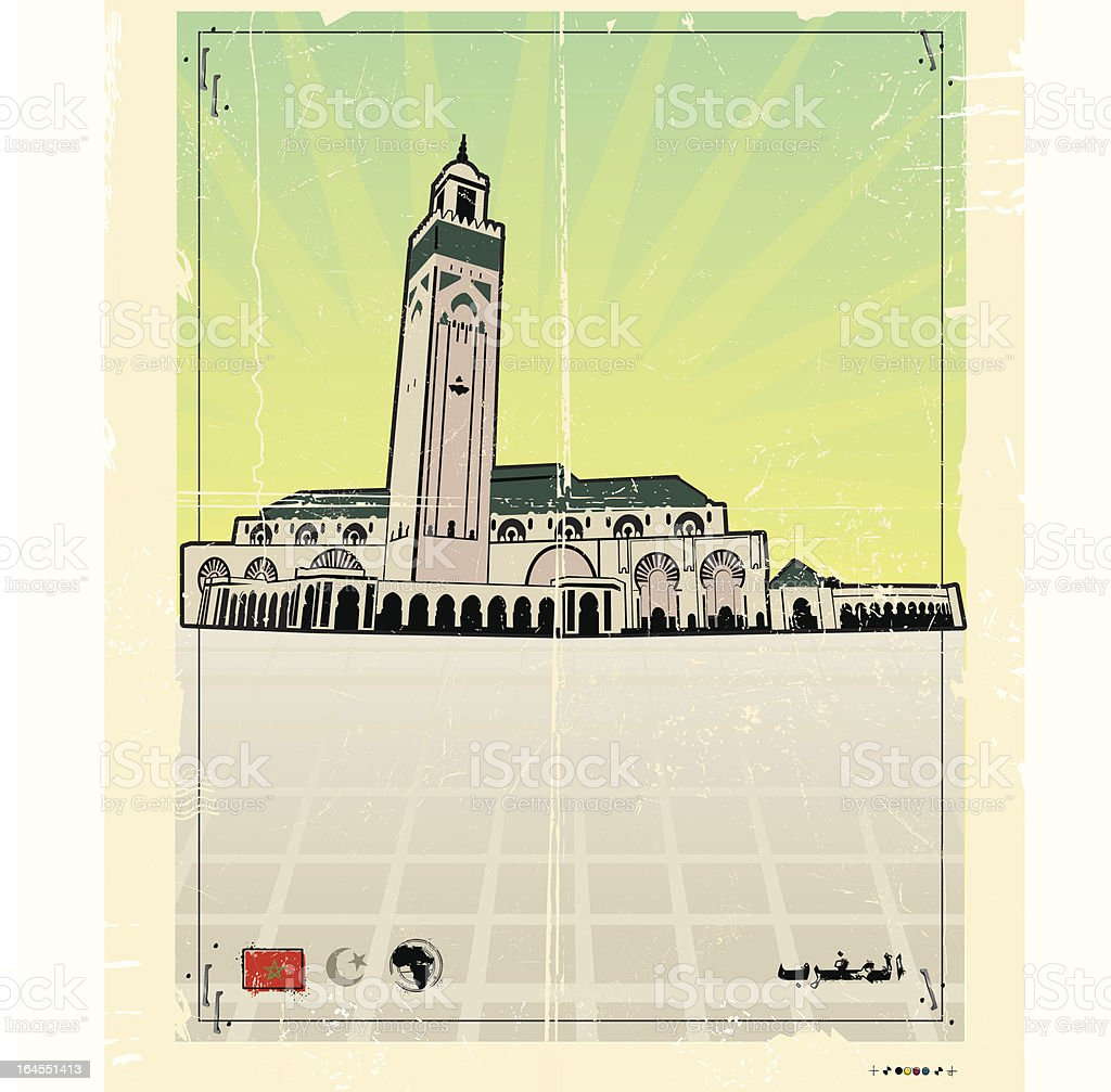 Casa Blanca de Morocco royalty-free stock vector art