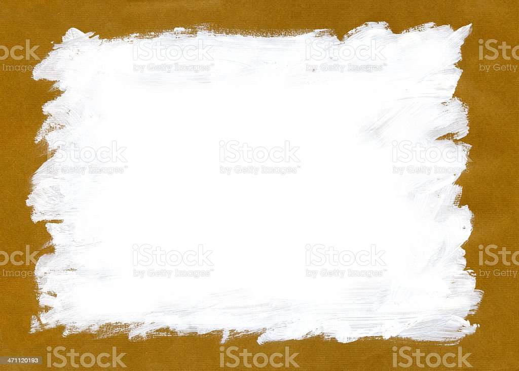 White Ink Rectangle Grunge vector art illustration