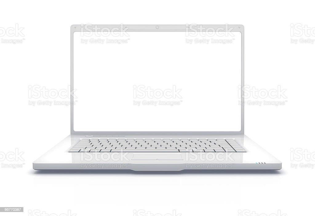 White Laptop XXXL royalty-free stock vector art