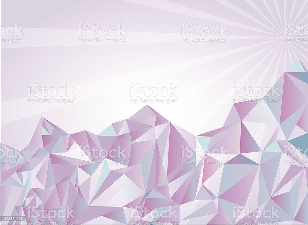 White mountains royalty-free stock vector art