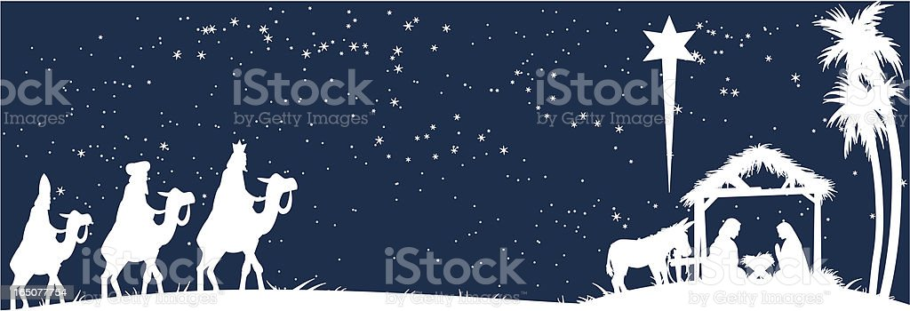 white nativity royalty-free stock vector art
