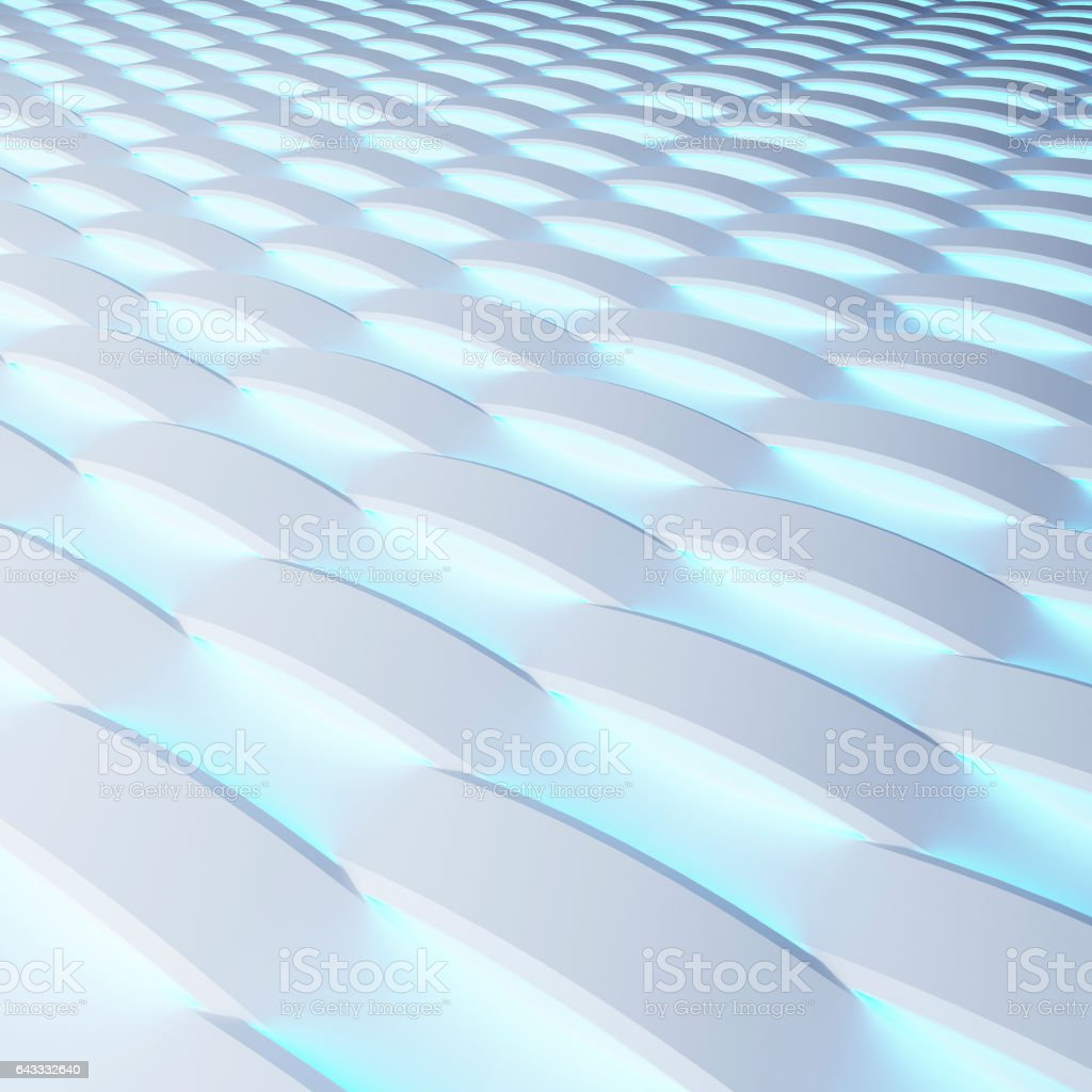 White panels with luminescence. 3d rendering. vector art illustration