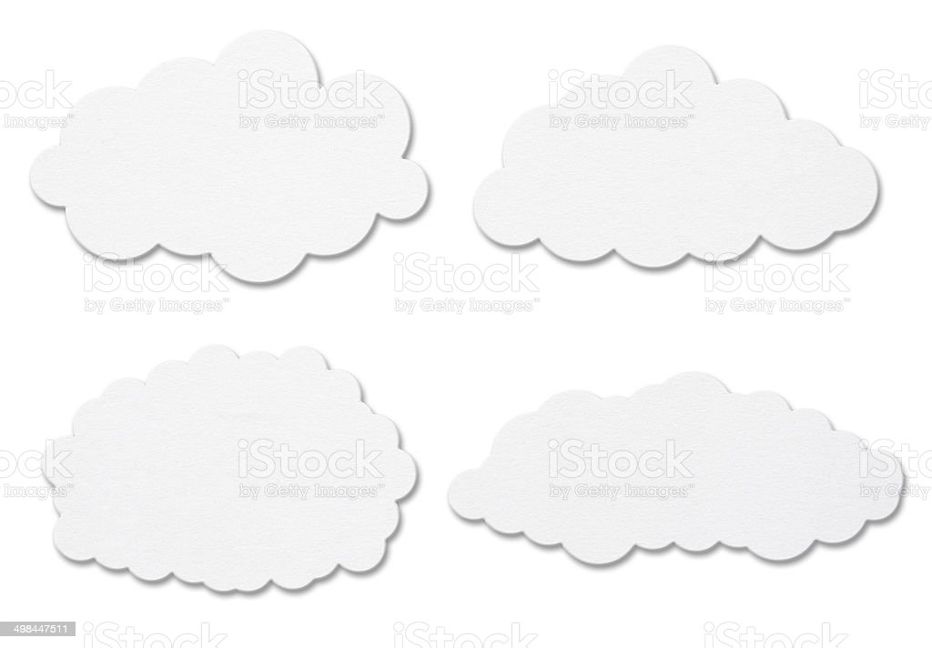White Paper Cloud royalty-free stock vector art