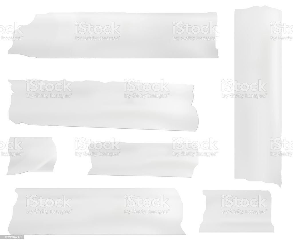 white pieces of paper vector art illustration