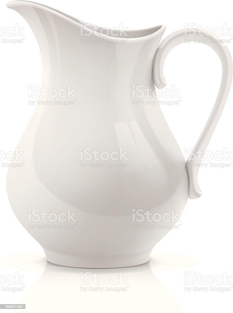 White pitcher vector art illustration