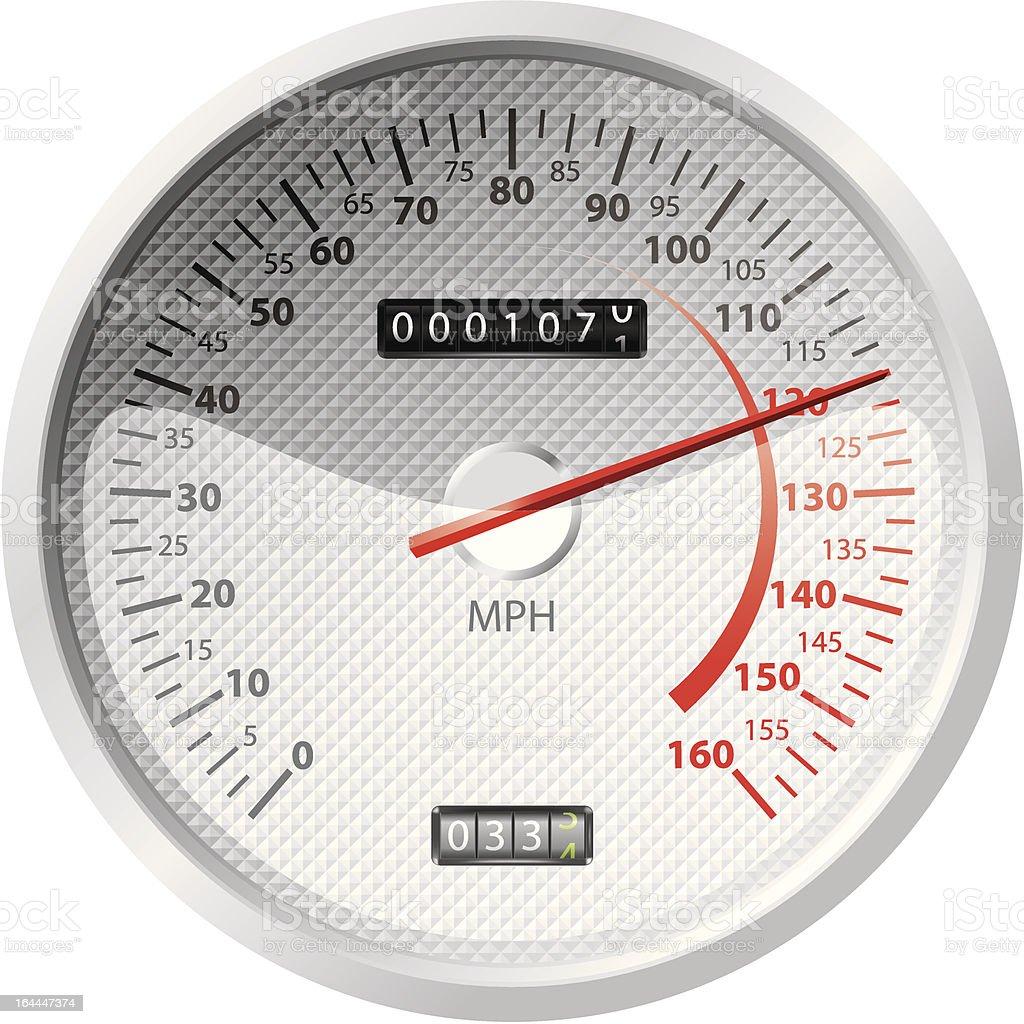 white speedometer royalty-free stock vector art