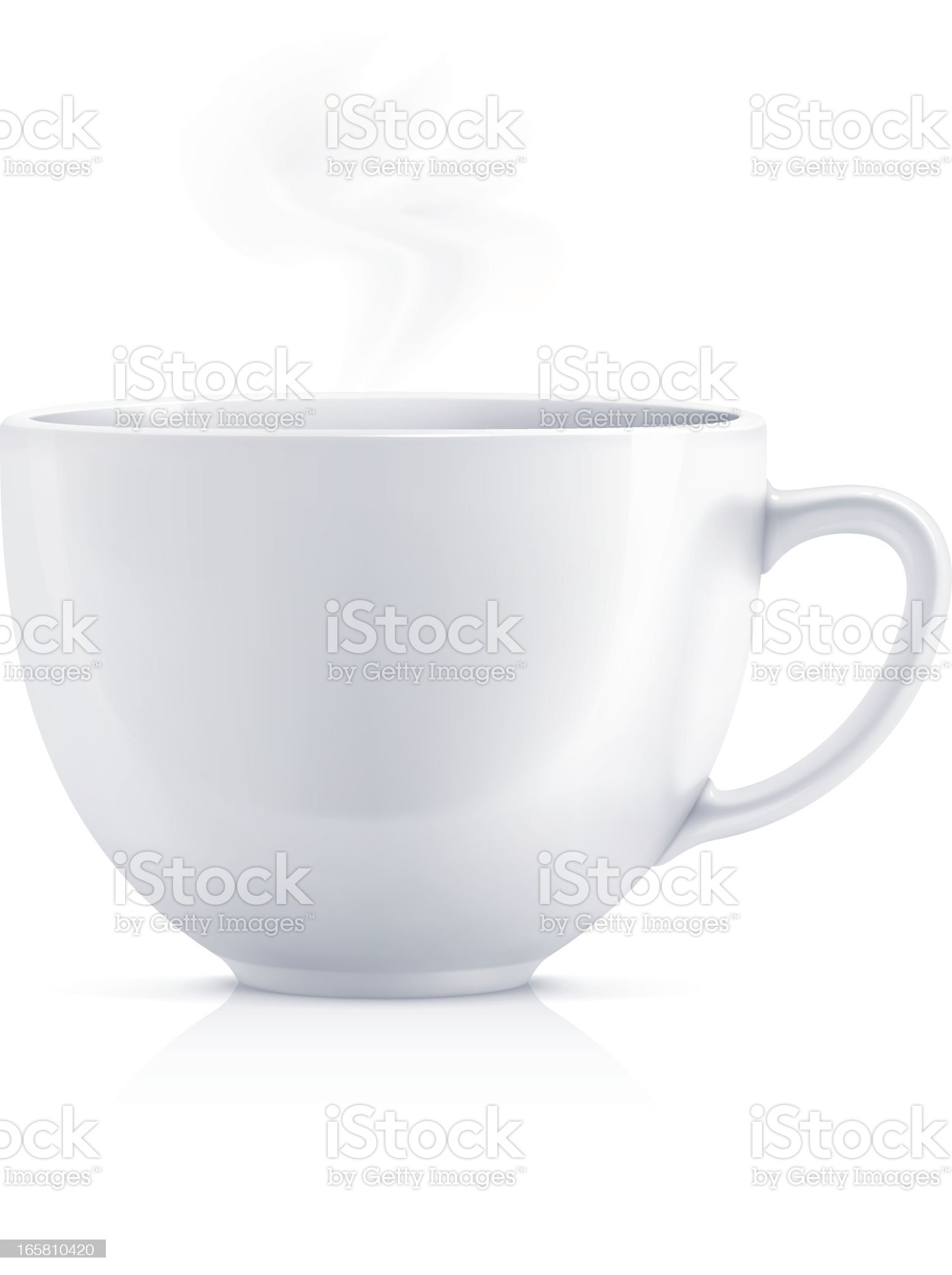 White teacup royalty-free stock vector art