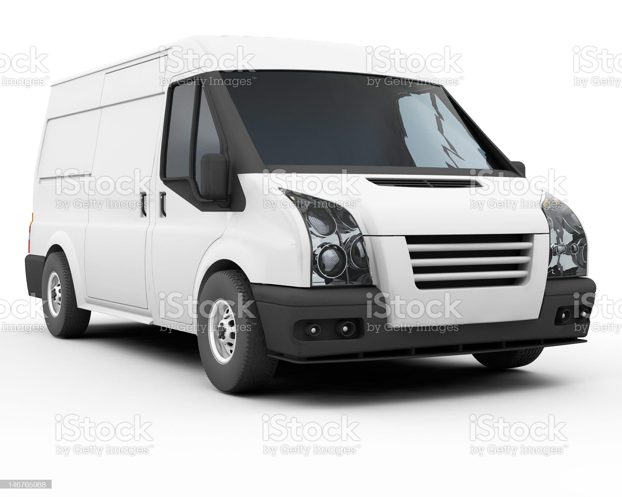 White van royalty-free stock vector art