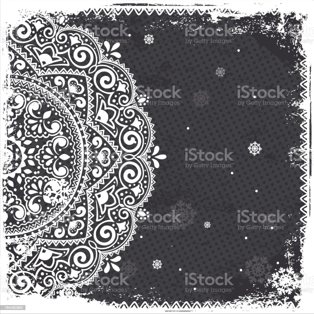 White vintage ornament royalty-free stock vector art