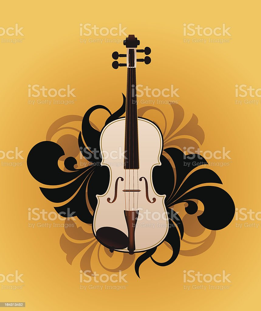 White violin royalty-free stock vector art