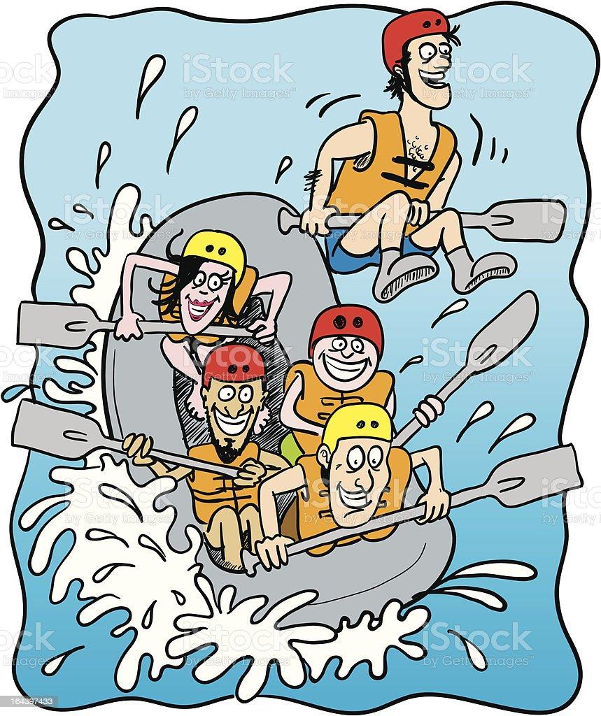 white water rafting royalty-free stock vector art
