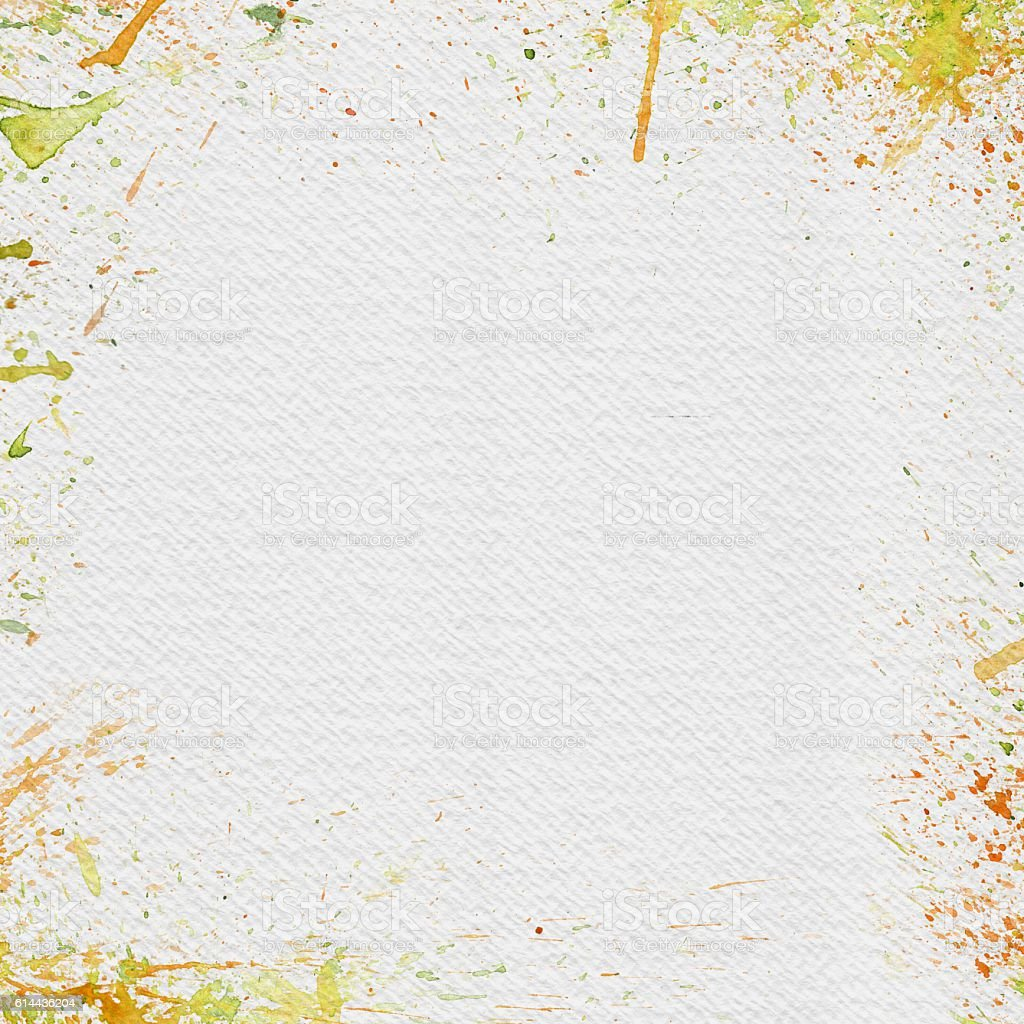 White Watercolor Paper with Bright Splashes vector art illustration