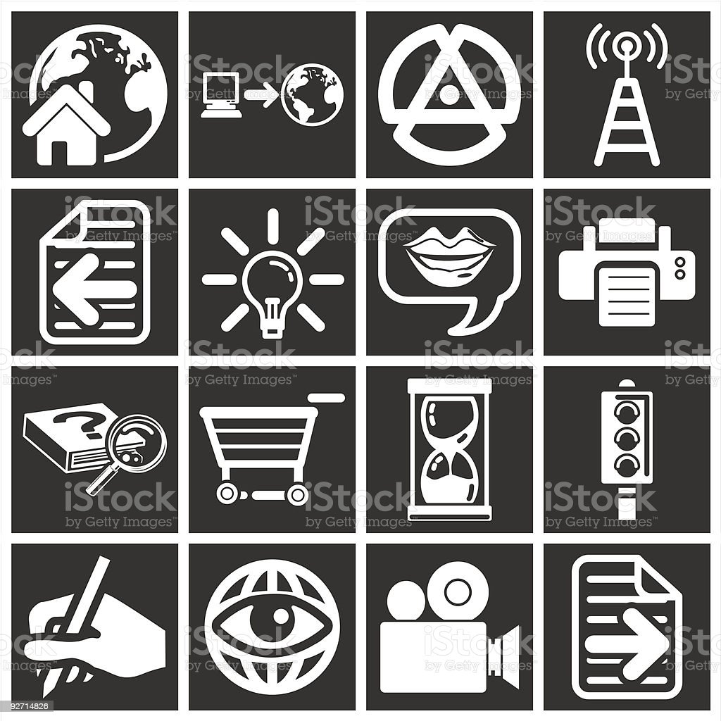 white web icons royalty-free stock vector art