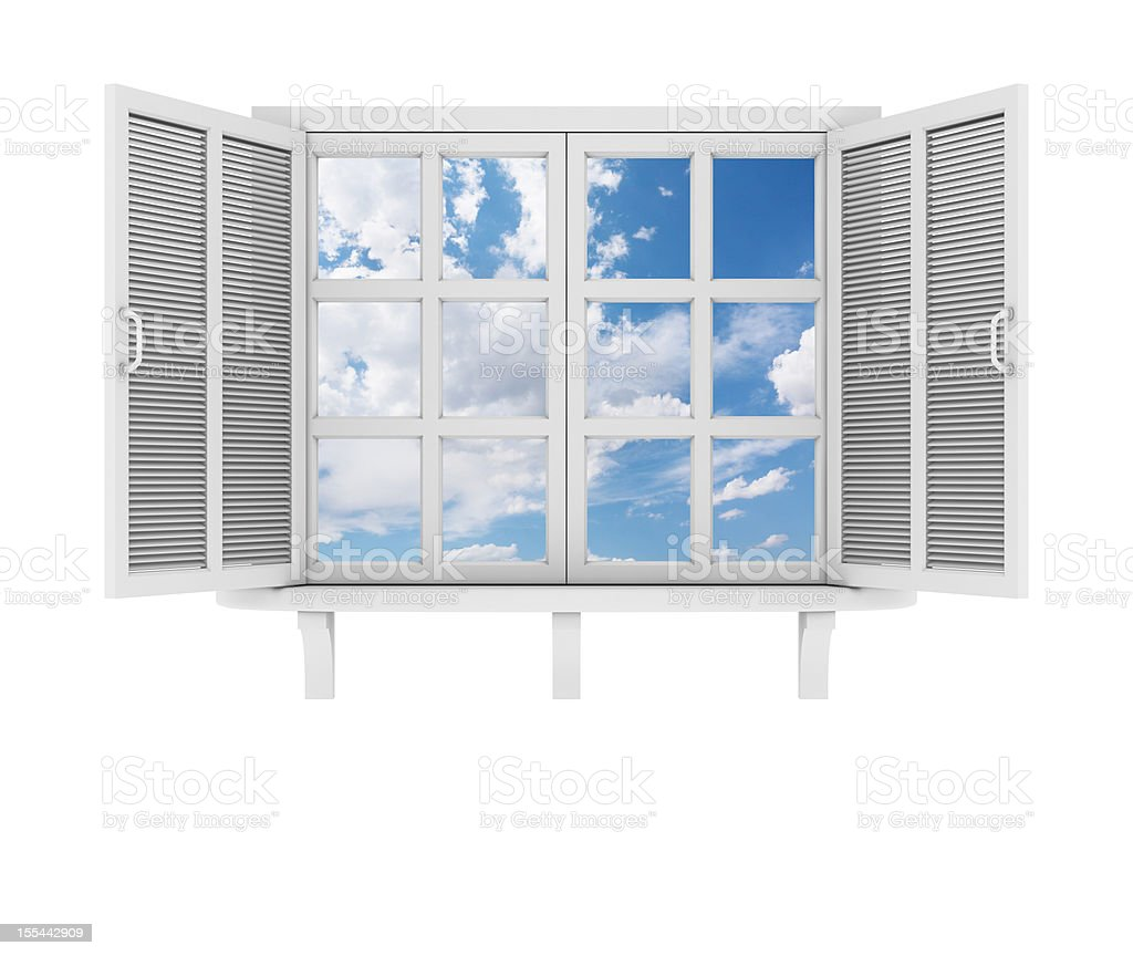 White Window vector art illustration