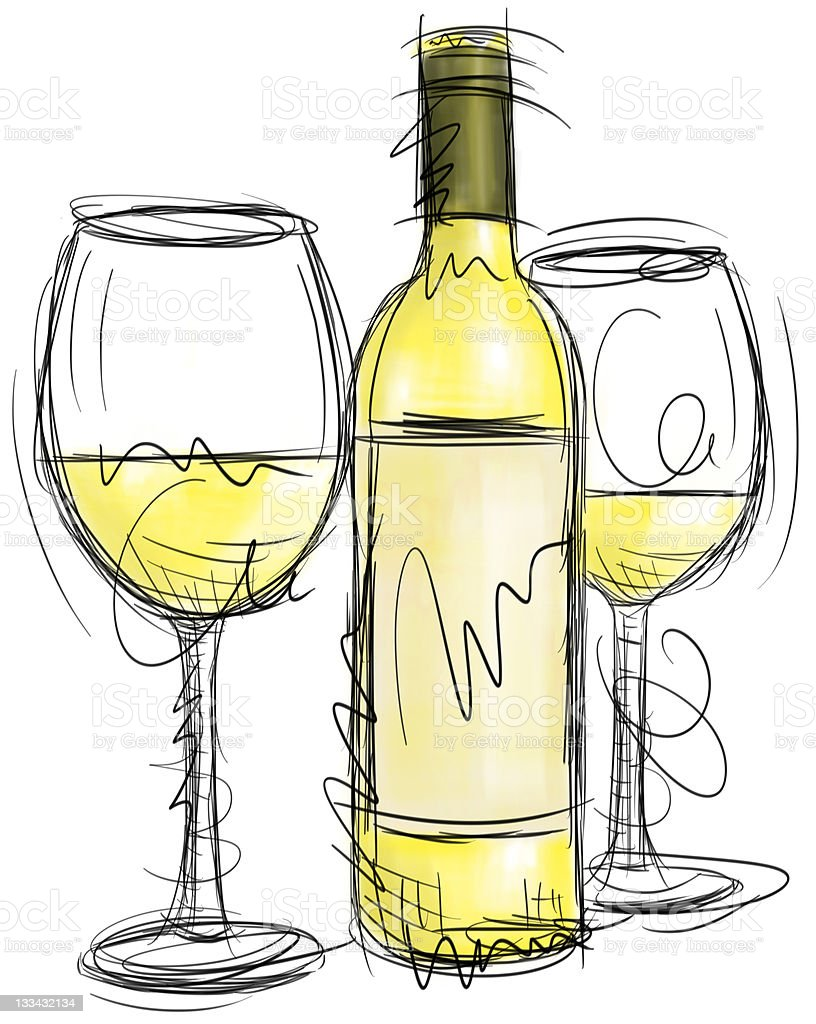À ta santé! | Ft. Selden White-wine-illustration-id133432134