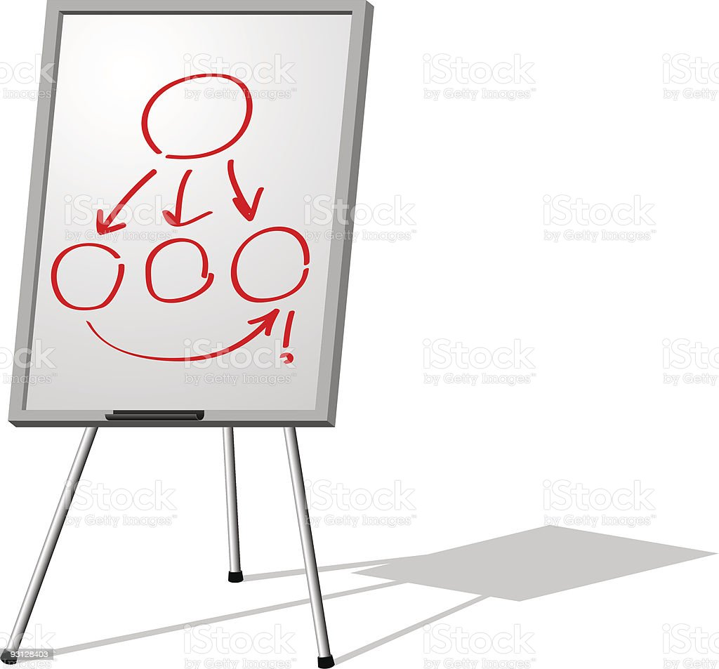 Whiteboard royalty-free stock vector art
