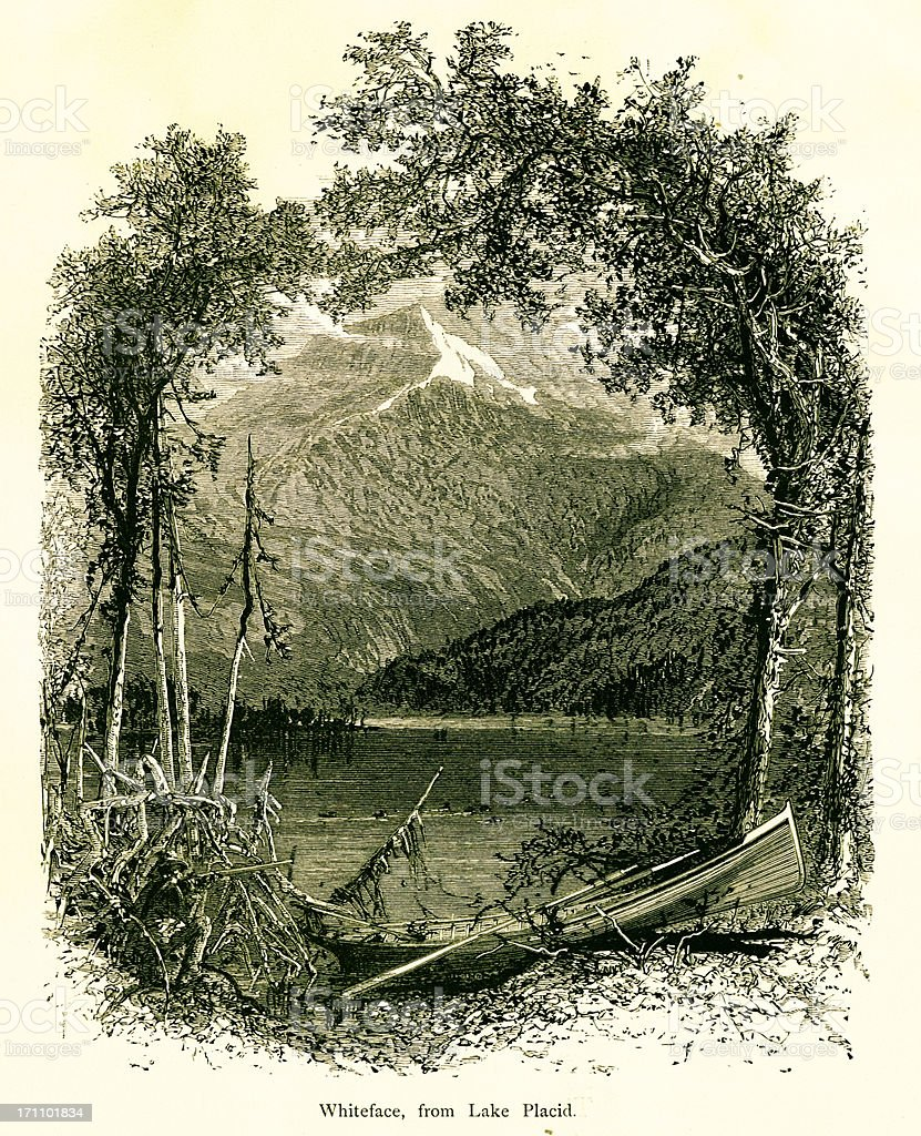 Whiteface Mountain, New York royalty-free stock vector art