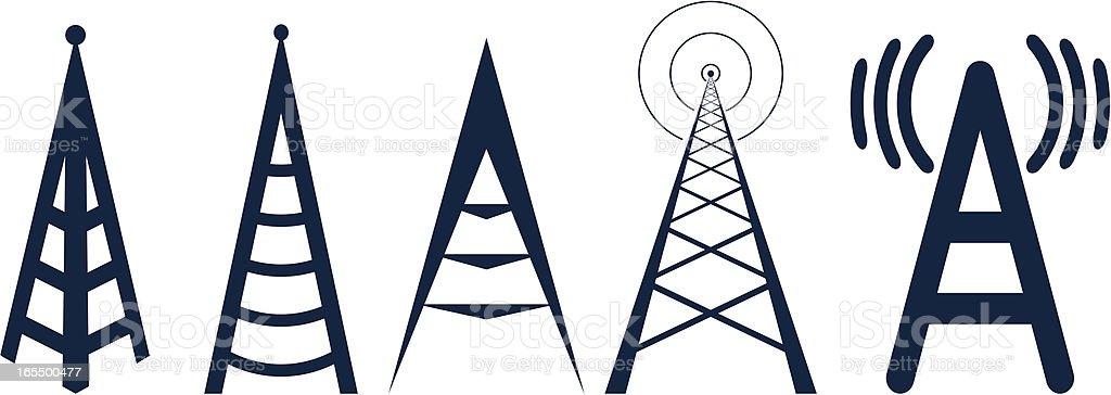 wi fi logos vector art illustration