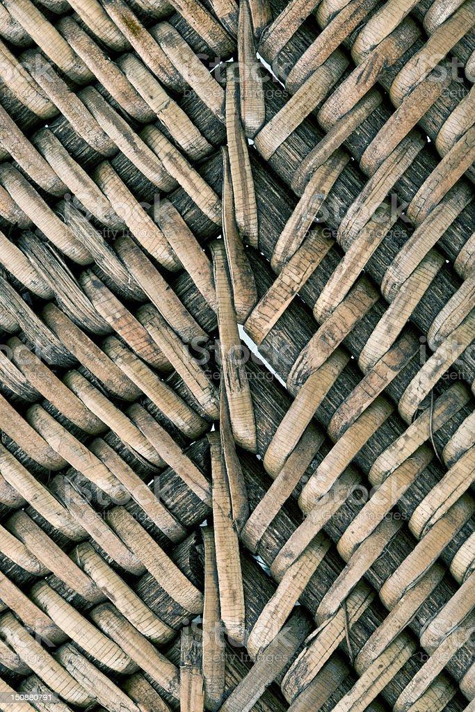 Wicker wood vector art illustration