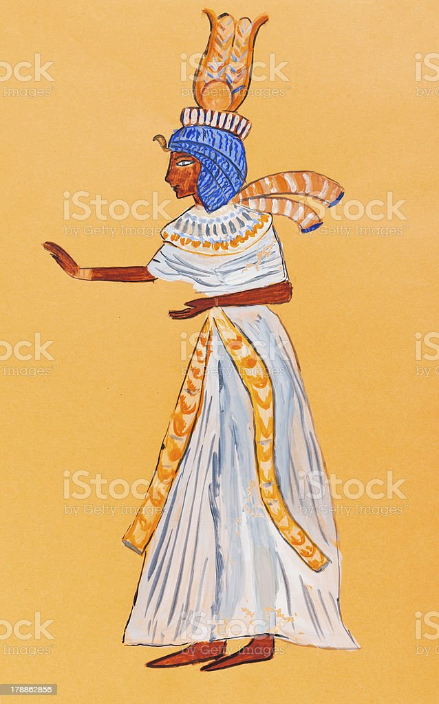 wife of Ancient Egypt Pharaoh royalty-free stock vector art