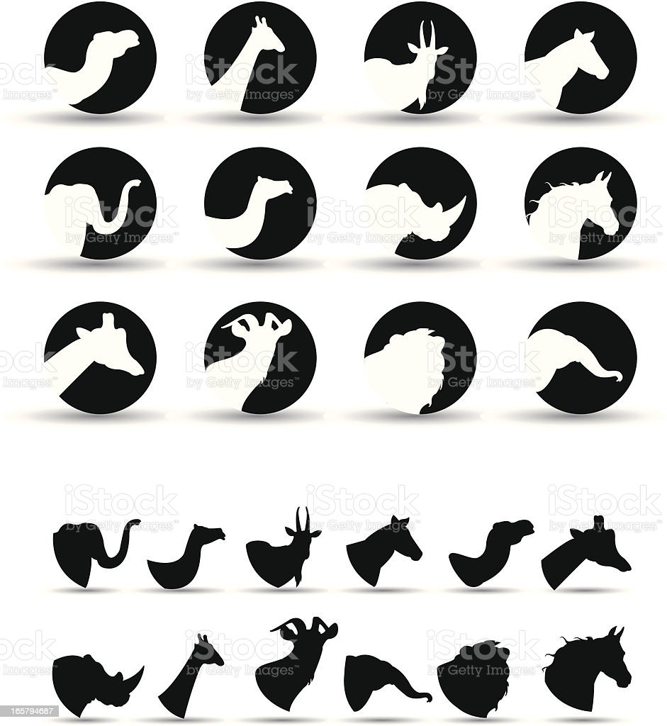 wild animal icons royalty-free stock vector art