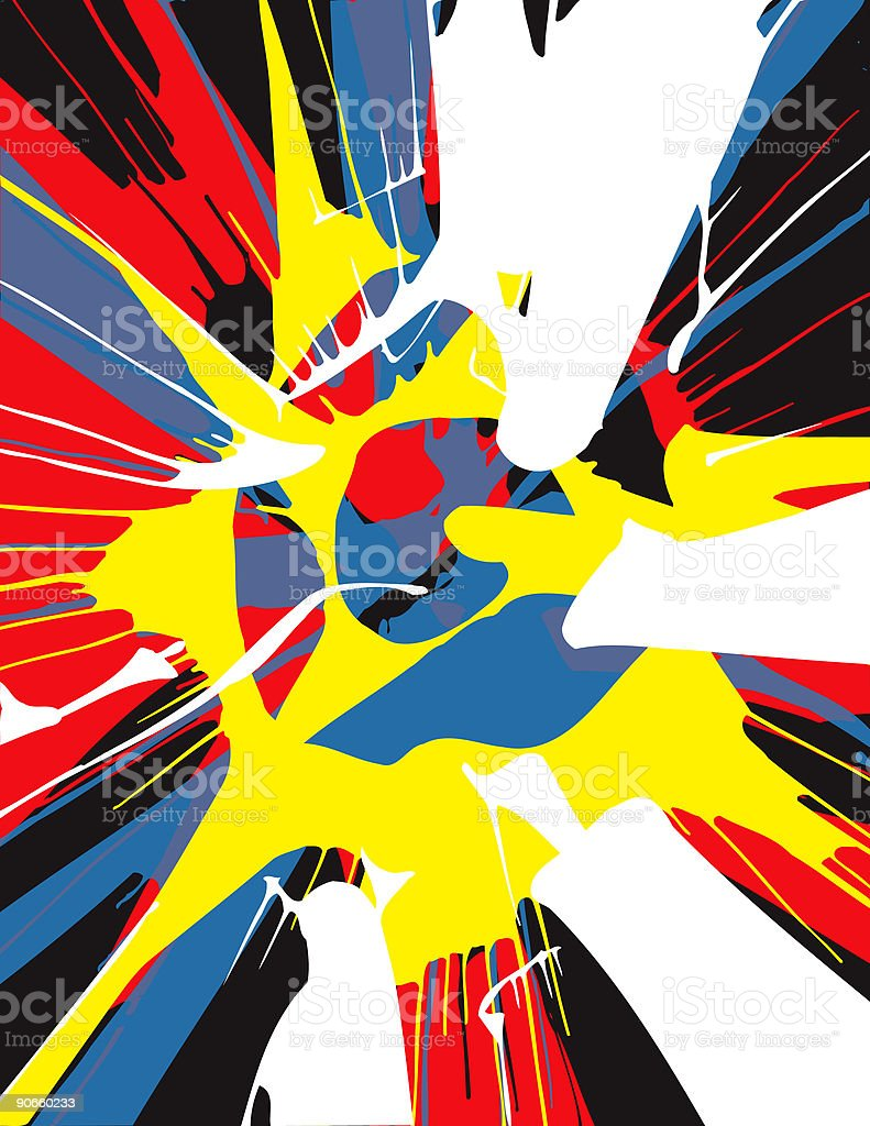 Wild Spin Art! (illustration) royalty-free stock vector art