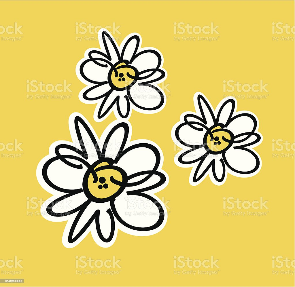 wild stroke flowers royalty-free stock vector art