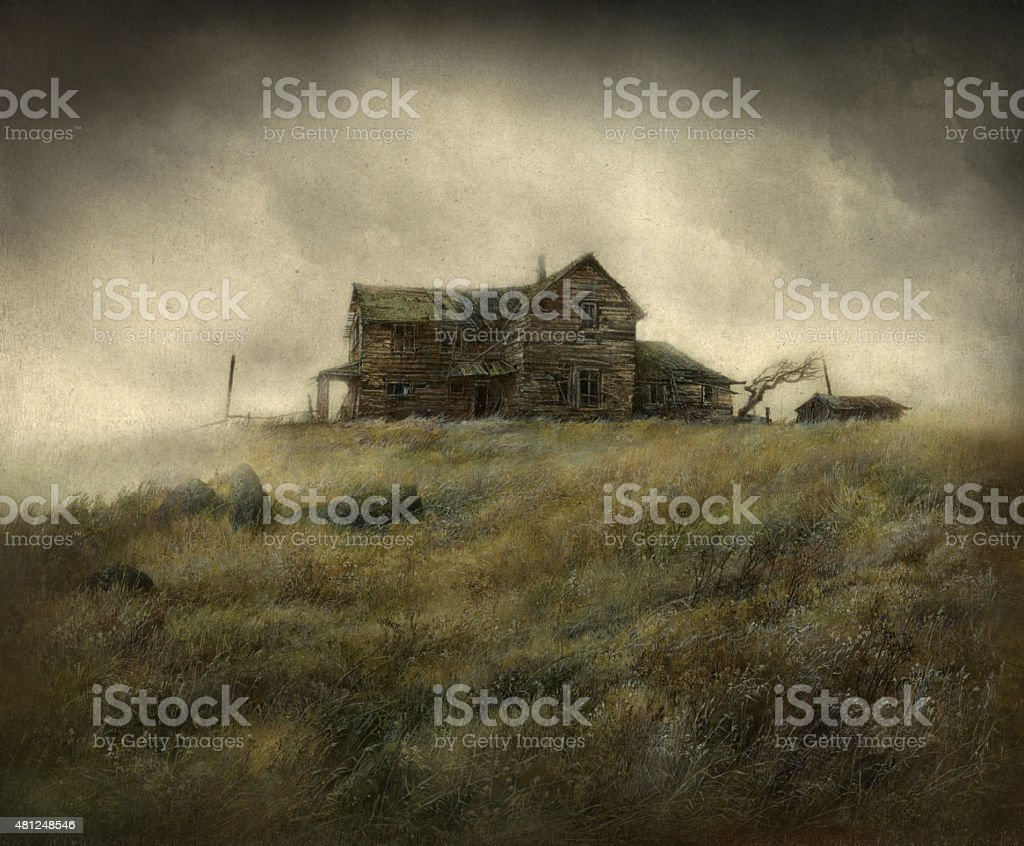 Wild West house vector art illustration