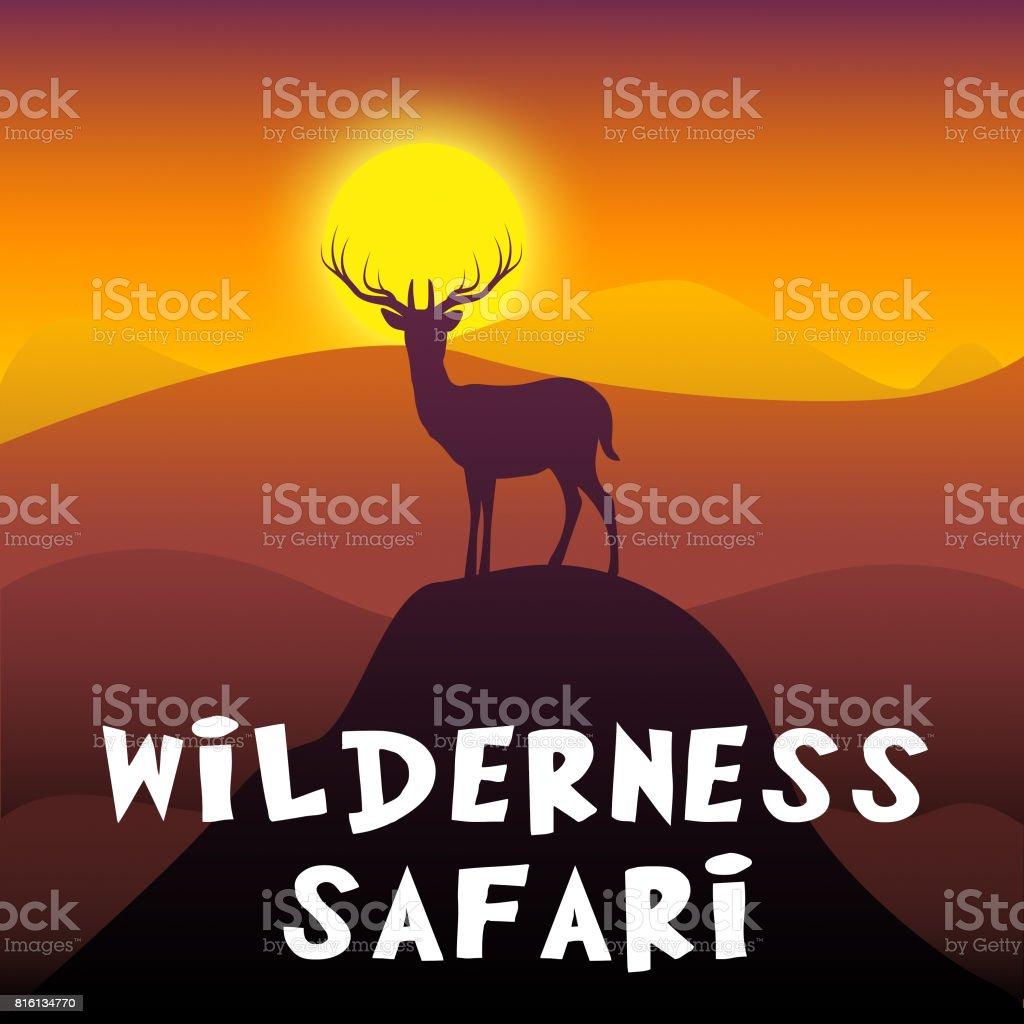 Wilderness Safari Shows Adventure Tour 3d Illustration vector art illustration